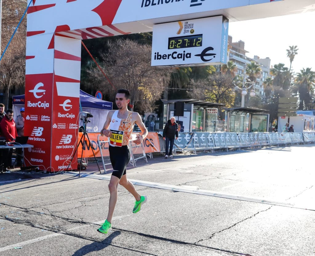 Switzerland's Julien Wanders smashed his European 10km record again at the 10K Valencia Ibercaja on Sunday