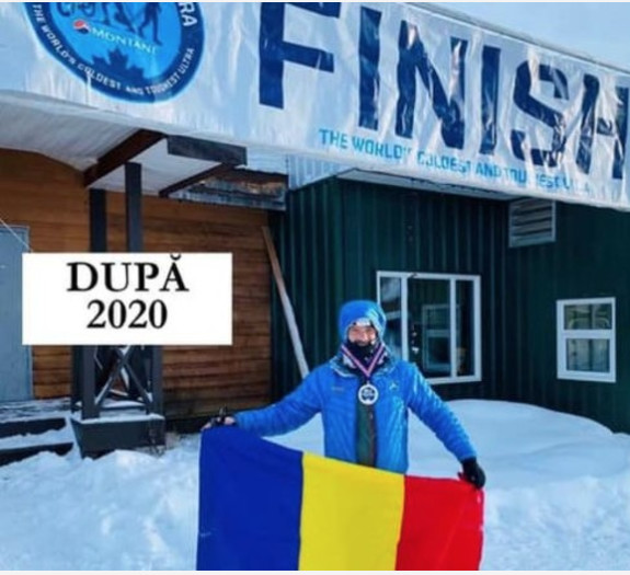 Tibi Ușeriu has finished the Yukon Arctic Ultra race and said The road seemed at one point without end