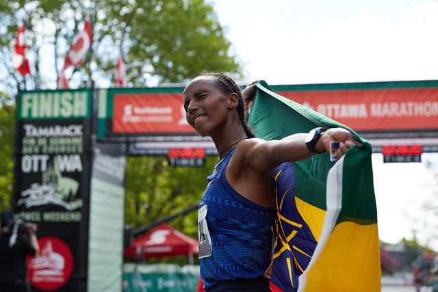Ethiopian Tigist Girma is going after the Toronto Marathon title
