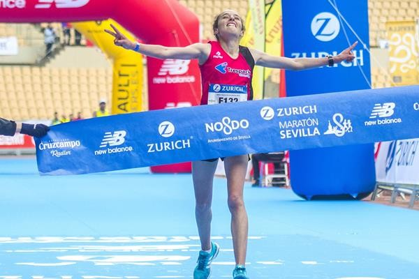 Morocco's Kaoutar Boulaid breaks course record in seville