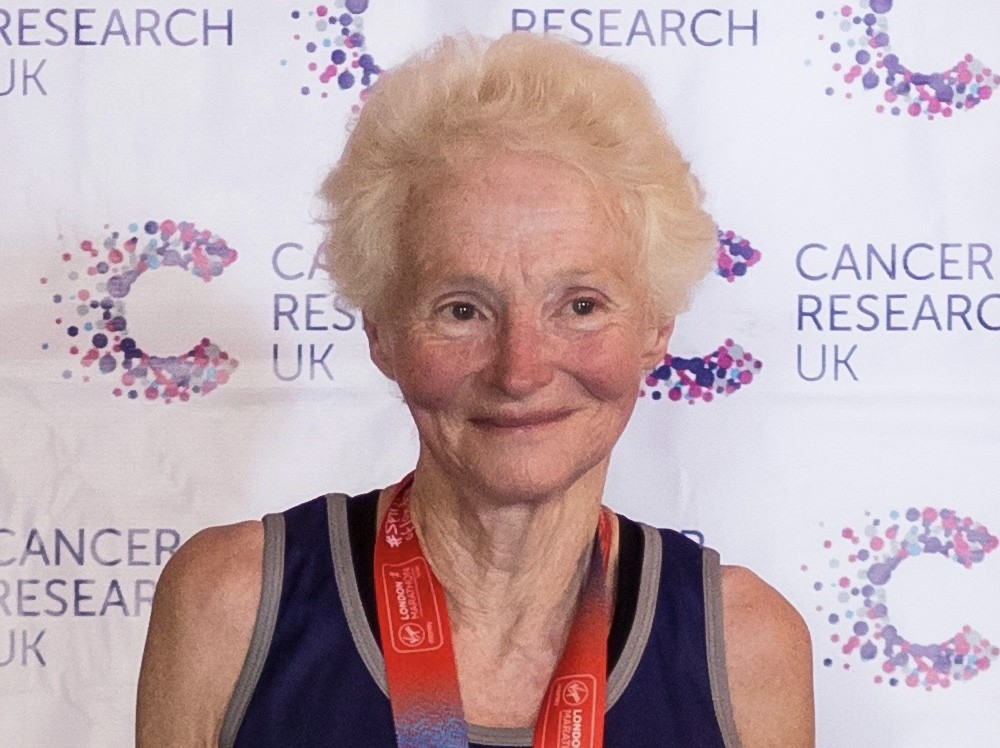 Sue Nicholls, 74, is set to run her ninth London Marathon