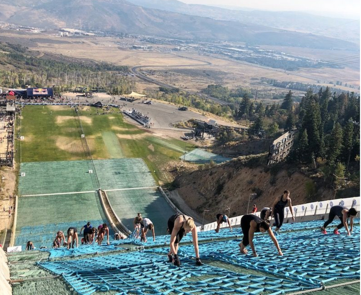 Would You Run 400 Meters Up A Ski Jump?