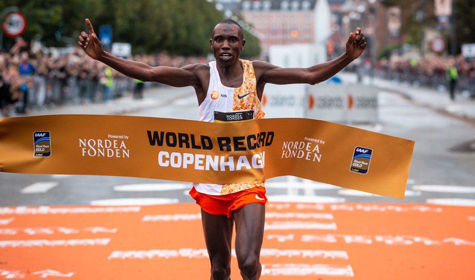 Geoffrey Kamworor's world half marathon record of 58:01 has been ratified