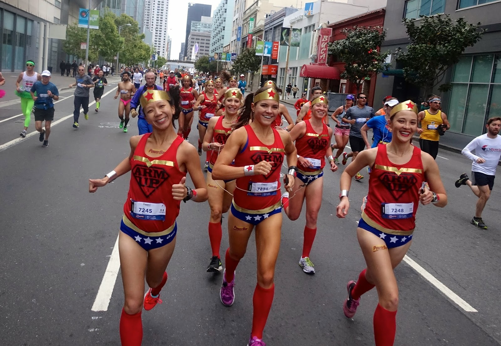The crazy Bay To Breakers 12k with it's costumed runners, elites and centipedes is May 20