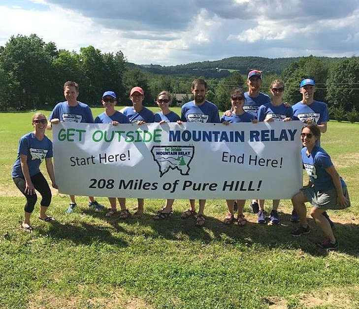Get Outside Mountain Relay was honored as one of the best running events in the Blue Ridge area