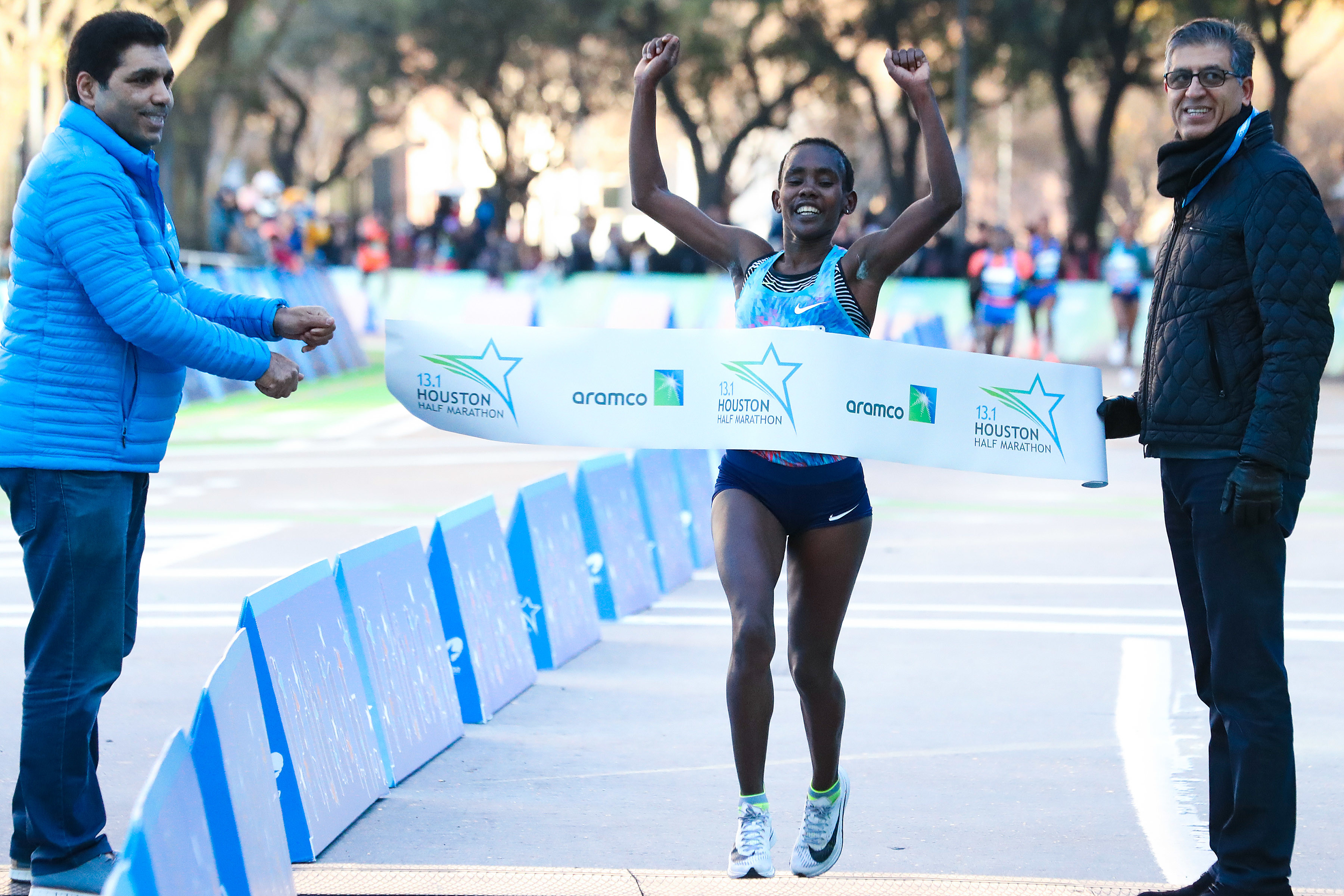 The Women's Half Marathon Times in Houston were fast!