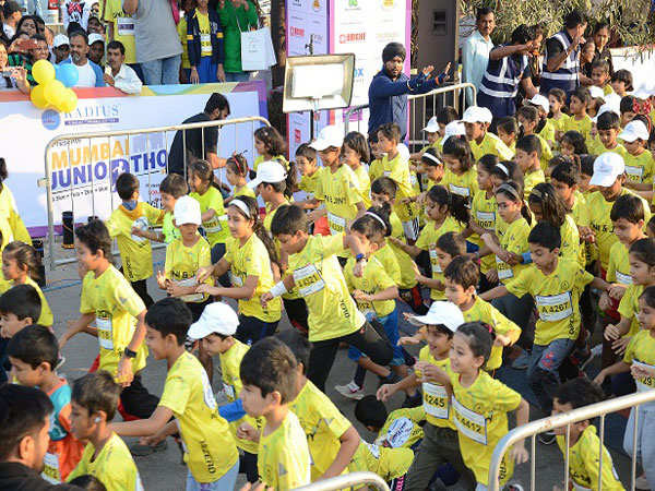 Mumbai's largest kid's marathon received over whelming support Sunday December 23