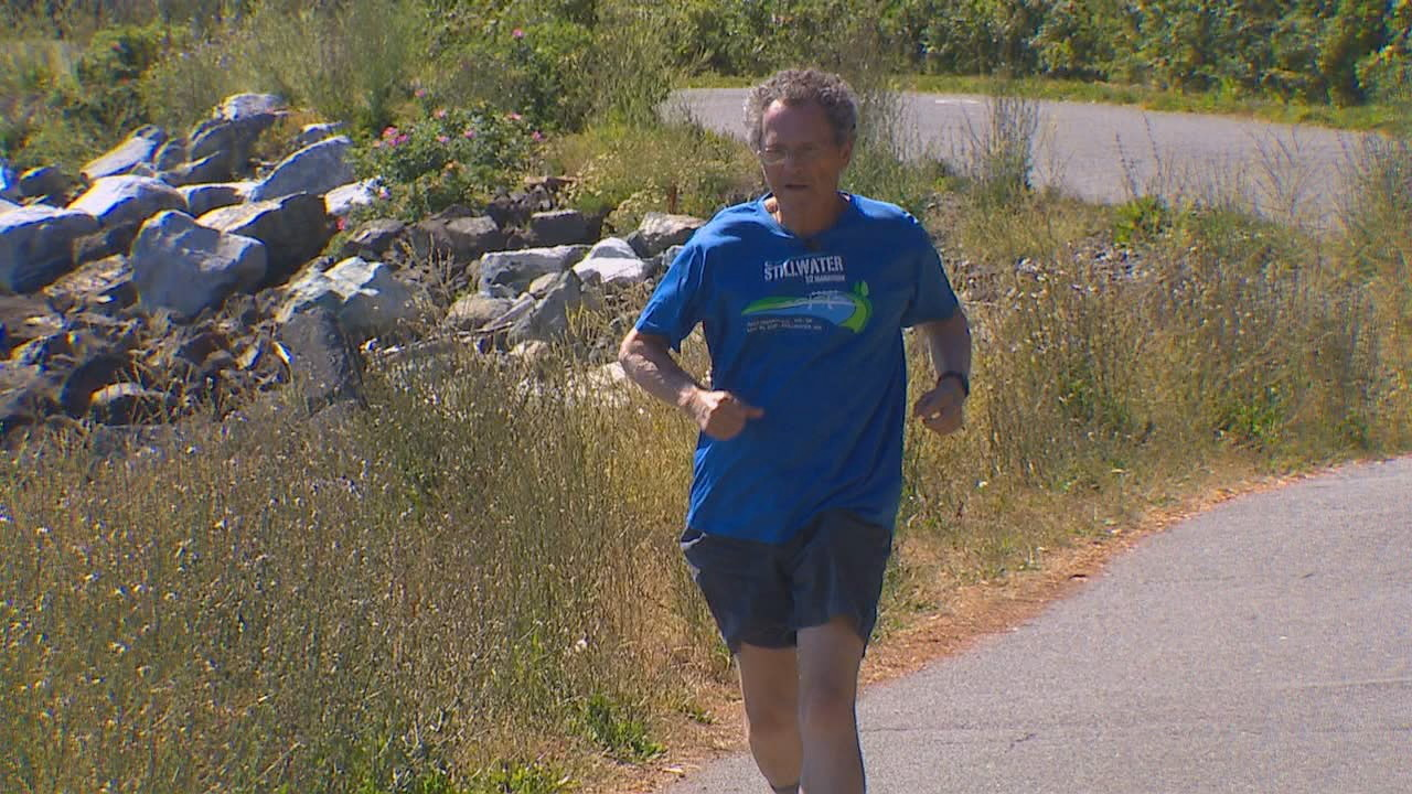 At 77-year-old, Ron Wright refuses to let cancer slow him down, he has run 100 marathons all over the world ever since he was diagnosed