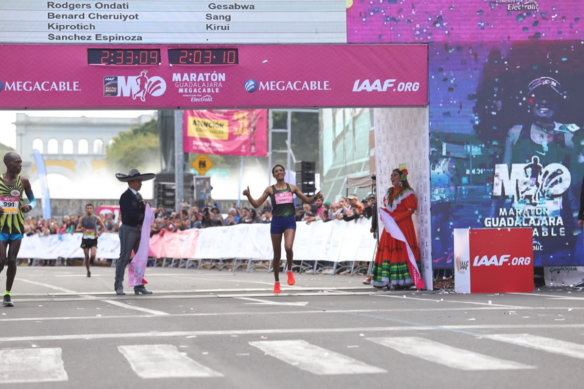 Kiprotich Kirui and  Mamitu Daska Molisa from Kenya, were the winners at the Guadalajara Marathon