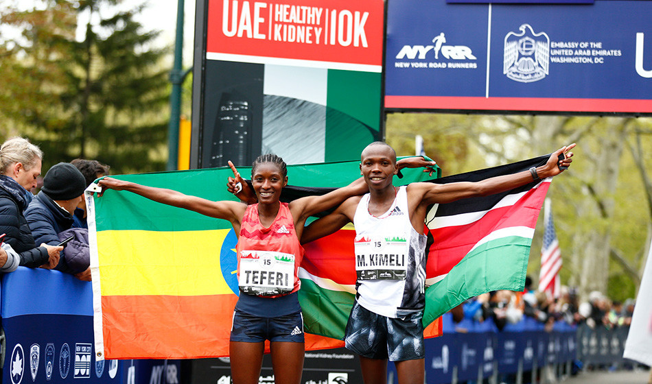 Mathew Kimeli and Senbere Teferi were dominant victors at the UAE Healthy Kidney 10-K