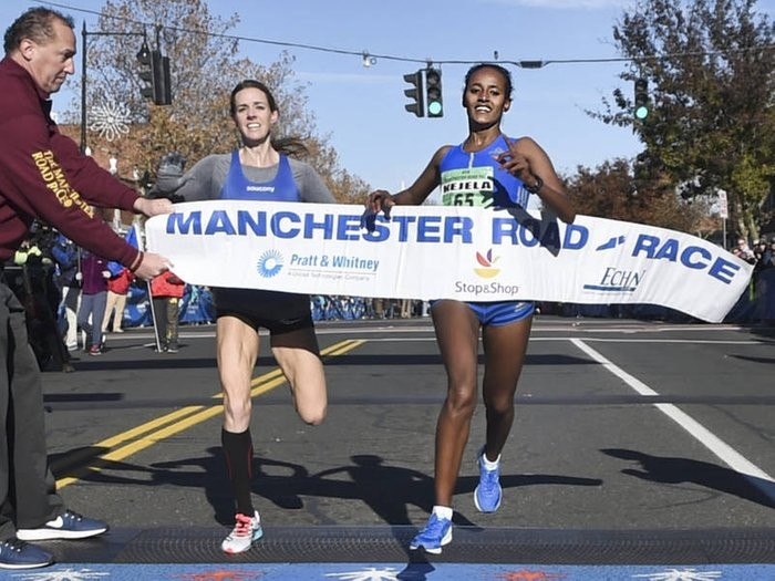 Buze Diriba of Ethiopia is set to defend her title at Manchester Road Race