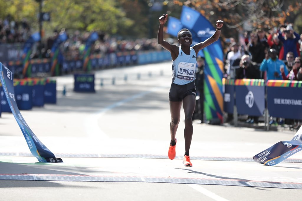 Kenya's Joyciline Jepkosgei was voted the 2019 New York Road Runners Pro Performer of the Year after winning the TCS New York City Marathon