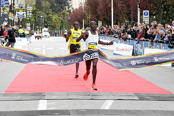 Kenya´s Daniel Kipchumba clocks 59:06, at the Lake Maggiore Half Marathon in Verbania