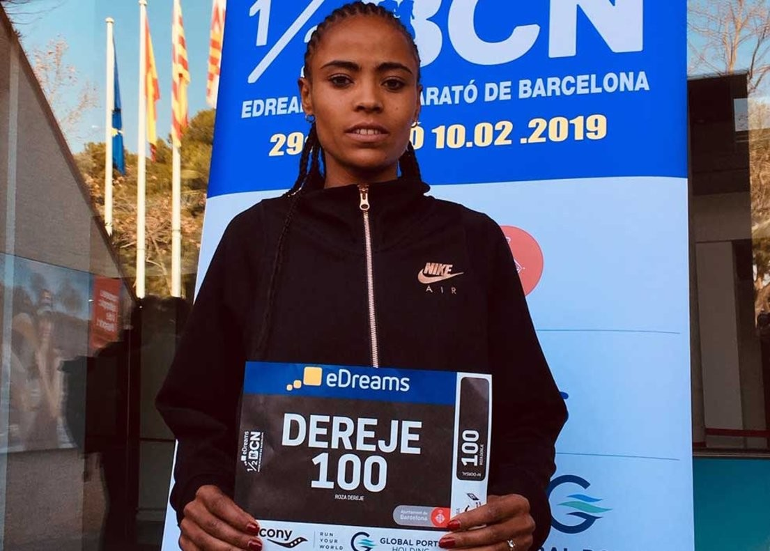 Ethiopia's rising star Roza Dereje is the one to beat at the Barcelona half Marathon