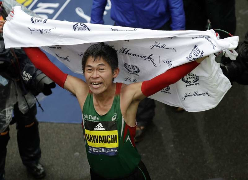 Japan's Yuki Kawauchi was 91 seconds behind at 35K, then he made an unbelievable move to win Boston