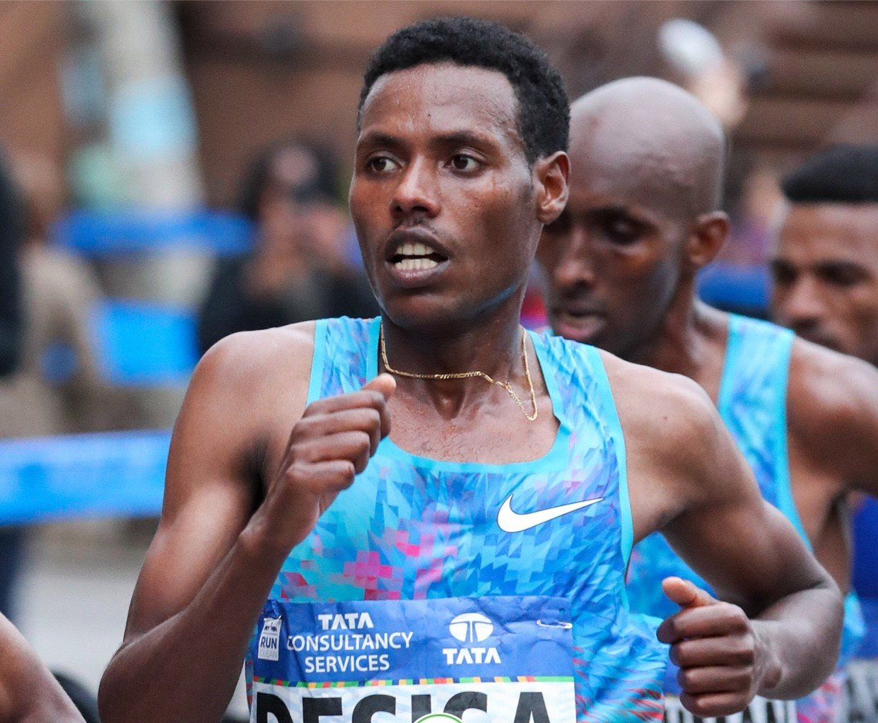 Two time Boston Marathon winner Lelisa Desisa out sprinted everyone to win the New York City Marathon in 2:05:59