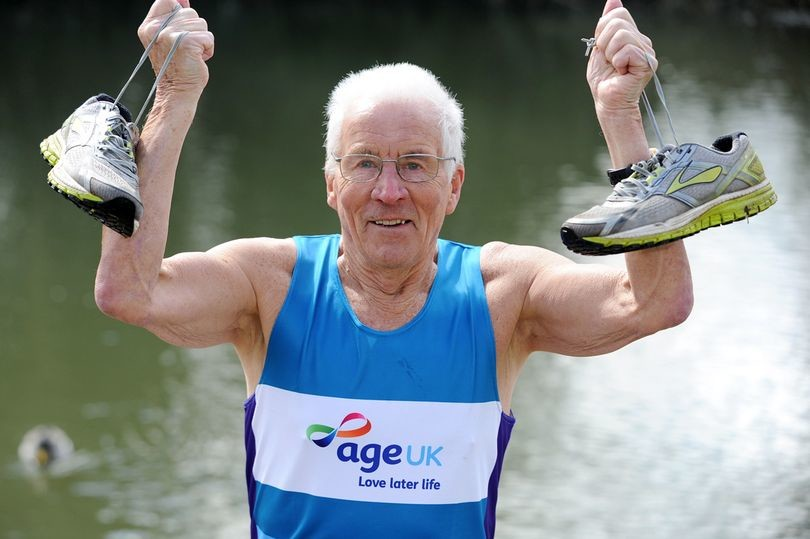 This 87-year-old trains so much that his family have threatened to set fire to his shoes!