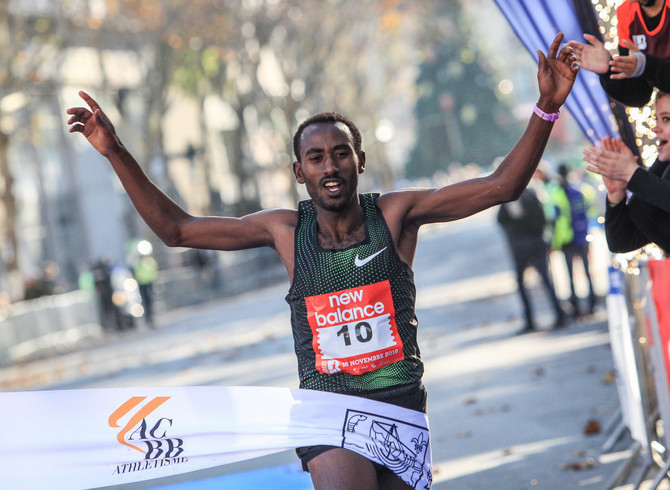 Taye Girma captured victory  at the Boulogne-Billancourt Half-Marathon,