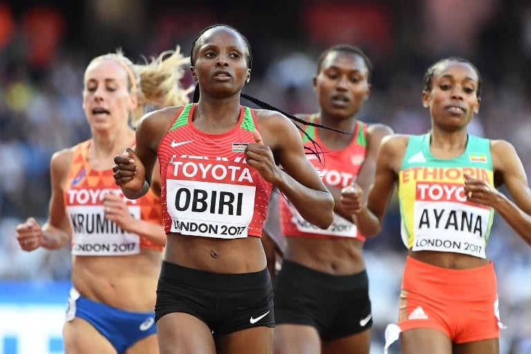 Olympic silver medalist Hellen Obiri is targeting qualification times to enable her to chase double gold at the World Championships in Doha, Qatar in October