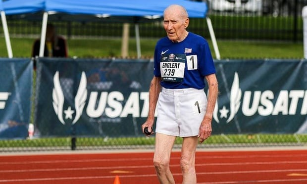 Roy Englert, 96, added yet another world record to his collection at last week's USATF Masters Outdoor Championships