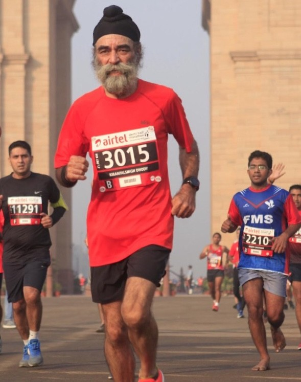 Global Run Challenge Profile: Kiranpal only jogged and never competed until he was sixty and now regularly places in his age division