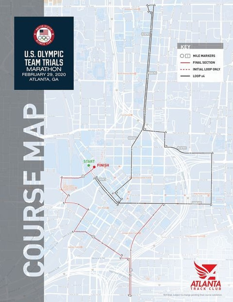 Usa Track And Field Map It Atlanta Track Club and USA Track & Field unveiled the course map  Usa Track And Field Map It